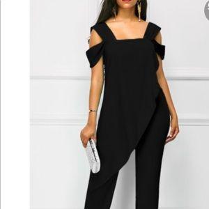 Other - NWOT Black jumpsuit with side underarm zipper